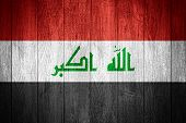 picture of iraq  - Iraq flag or Iraqi banner on wooden boards background - JPG