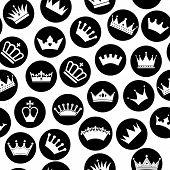 foto of crown jewels  - Retro seamless pattern of  crowns - JPG