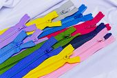 stock photo of zipper  - Colorful collection of zipper the concept of needlework - JPG