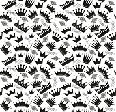 picture of crown jewels  - Retro seamless pattern of  black crowns - JPG