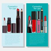 stock photo of  lips  - cosmetic bannersr for of organic products - JPG