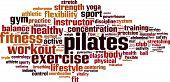 image of pilates  - Pilates word cloud concept - JPG