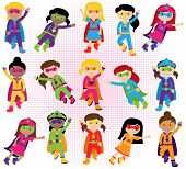 pic of halloween characters  - Collection of Diverse Group of Superhero Girls - JPG