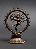 stock photo of bharata-natyam  - Statue of indian hindu god dancing Shiva Nataraja - JPG