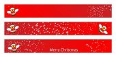 stock photo of bumble bee  - Christmas web banner for kids with a Santa Claus Bee - JPG