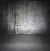 stock photo of court room  - Grungy concrete room - JPG