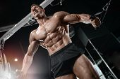 Strong Bodybuilder Man At The Gym poster