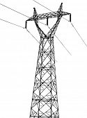 pic of power lines  - power trace element - JPG