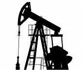 stock photo of oil drilling rig  - Oil Pump in Vector Art - JPG