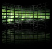 foto of binary code  - Binary Code on tv screens  - JPG