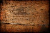 Постер, плакат: Темный Винтажные текстуры древесины