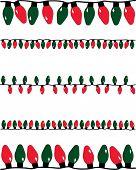 stock photo of christmas lights  - Christmas Lights Vector - JPG