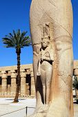 Statue of Ramses at Karnak temple Egypt