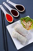 pic of nem  - Spring rolls with different sauces - JPG