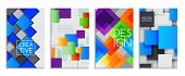 Abstract Card Set Of Banners, Brochures Vector Illustration. Minimalistic Design, Creative Concept,  poster