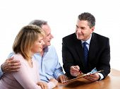 foto of business meetings  - Senior couple with financial adviser - JPG