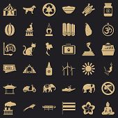 Clever Elephant Icons Set. Simple Style Of 36 Clever Elephant Vector Icons For Web For Any Design poster