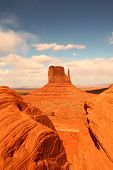 Vertical View Of Monument Valley poster