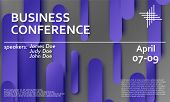 Conference Announcement. Seminar Design Template. Material Design. Business Conference Abstract Cove poster