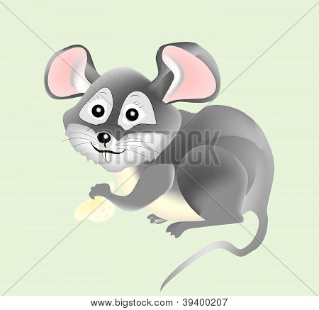 Vector little mouse poster