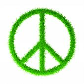 stock photo of woodstock  - Peace greed sign isolated on white background - JPG