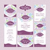 picture of dinner invitation  - Set of floral wedding cards - JPG