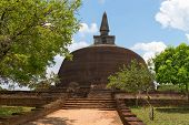 picture of polonnaruwa  - Rankoth Vehera the largest Buddhist dagoba at the ruins of the ancient kingdom capital Polonnaruwa Sri Lanka - JPG