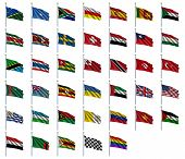 image of flags world  - World Flags Set 4 of 4  - JPG