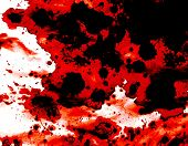 stock photo of mayhem  - Blood splatter background red and black on white - JPG