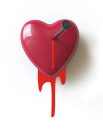 pic of broken heart  - a bloody heart symbolizes the broken love - JPG