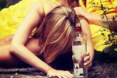image of depressed teen  - Teen alcohol addiction  - JPG