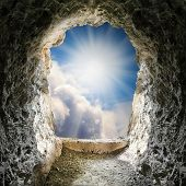 picture of gates heaven  - Light at end of the tunnel - JPG