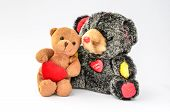 Two Hugging Teddy Bears