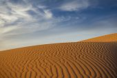 foto of sahara desert  - Beautiful dunes in Sahara desert - JPG