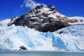 image of avalanche  - The Perito Moreno Glacier is a glacier located in the Los Glaciares National Park in the Santa Cruz province - JPG