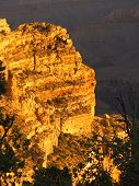 picture of grand canyon  - Glowing cliff during a Grand Canyon sunrise - JPG