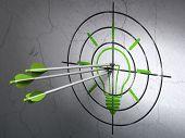 pic of bullseye  - Success finance concept - JPG