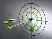 stock photo of bullseye  - Success finance concept - JPG