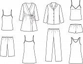 picture of night gown  - Vector illustration - JPG