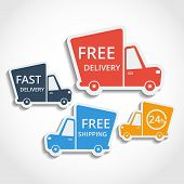 pic of universal sign  - Free delivery fast delivery free shipping colorful icons set with blend shadows - JPG