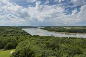 stock photo of nebraska  - A scenic view of the Platte River in Nebraska - JPG