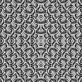 pic of uncolored  - Design seamless monochrome circle pattern - JPG