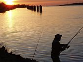 stock photo of cape-cod  - Fishing for Stripers  - JPG