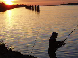 picture of cape-cod  - Fishing for Stripers  - JPG