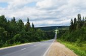 pic of ural mountains  - Long direct road in the afternoon - JPG