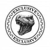 picture of dinosaurus  - Trex head - JPG