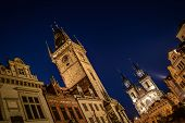 picture of ladies night  - Night time illuminations of the the Old Town Hall - JPG