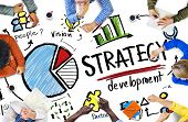 stock photo of graph  - Strategy Development Goal Marketing Vision Planning Business Concept - JPG