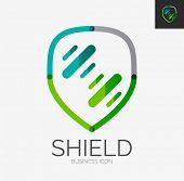 pic of shield  - Minimal line design logo - JPG