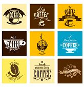 Постер, плакат: Hot Fresh Morning Coffee Banners